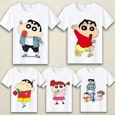 Happy Crayon Shin-chan Anime T-Shirts Casual Shirt Short Sleeve T-shirt Unisex