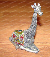 Silver Beaded / Bejeweled GIRAFFE (Wildlife Collection, 1386)