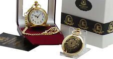 Sgt Pepper The Beatles Golden Pocket Watch Luxury Gift Case 24k Gold Dipped
