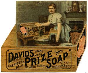 David's Prize Soap - Mechanical, die-cut
