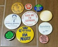 Vintage Mixed Lot Various Pinbacks Riehle Corona Secretary Kiss German Buttons