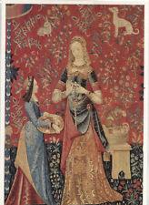 Alte Kunstpostkarte - Tapisserie - La Dame à la Licorne - L'Odorat