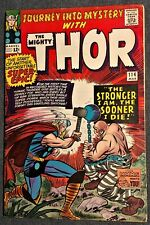 JOURNEY INTO MYSTERY #114 THOR 1st ABSORBING MAN/ORIGIN LEE/KIRBY VG+ Marvel '65