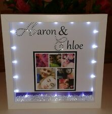 Personalised boyfriend or girlfriend  gift with crystals and lights