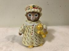 Vintage 1987 Schmid Kitty Cucumber Figurine Ginger