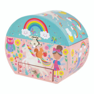 Rainbow Fairy Oval Musical Jewellery Box fun happydancing girl birthday new gift