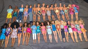 Barbie & Ken Fashionistas Loose Lot Of 34 Mattel Dolls …