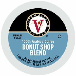 Victor Allen Donut Shop Coffee 12 to 200 Count Keurig K cup Pods FREE SHIPPING