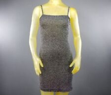 Clubwear Spaghetti Strap Mini Dress Von Mozart Nylon Silver Metallic Blend B3