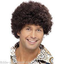 Haute qualité pour homme années 70 perruque afro disco Dude Marron Déguisement boogie night fever