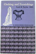 1881 Lord & Taylor Clothing & Furnishings Illustrated Vintage Clothing & Fashion
