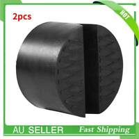 2Pcs 75x50mm Trolley Jack Adapter Jacking Rubber Pad Block Car Slot Universal AU