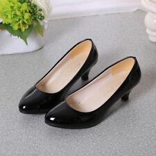 Women's Work Smart Wedding Court Shoes Pumps Ladies Low Stiletto Mid High Heel