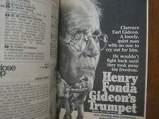 April 26, 1980 TV Guide (HENRY  FONDA/GIDEON'S TRUMPET/BEAU BRIDGES/HELEN SHAVER