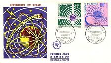 FIRST DAY COVER PREMIER JOUR TCHAD / TELECOMMUNICATIONS SPATIALES / AVION