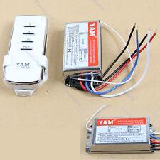 2 Port Way Light Lamp Digital Wireless Wall Switch Splitter Box + Remote Control