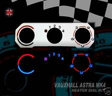 Vauxhall Astra interior speedo clock dash heater control custom dial kit