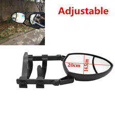 Adjustable Clip-On Extension Towing Mirror 7.87×5.7in Dual View For Car Truck