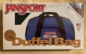 Vintage 90s GREEN Jansport Duffle Bag New In Box! Large