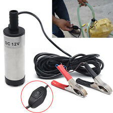 Newly 12V DC 38mm Silver Car Electric Submersible Water Oil Fuel Pump 8700r/min