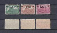GERMAN REICH 1920 Overprinted Mint * 115-117 (Mi.116-118)