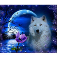 5D Full Diamond Painting Animal DIY Embroidery Cross Stitch Wolf Home Decor Kit