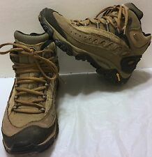 Merrell Pulse II Waterproof Mid Loden Taupe Hiking Boots Size 6.5 Trail Brown