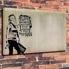"Pop Art Banksy ""grandeur"" toile imprimé A1.30""x20"" ~ Deep cadre 30 mm"