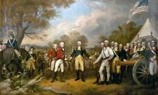 "36"" large # TOP ART # American Revolutionary War PRINT oil painting ON CANVAS"