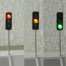 HO / OO 3-Light Traffic Lights Signal Model 1:100 Architecture Street Train