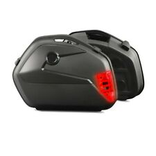 Motorrad Koffer + Kofferträger Seitenkoffer Universal Bagtecs SC22 LED C-Ware