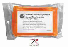 New Rothco High Visibility Orange/Silver Polarshield Emergency Survival Blanket
