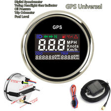52mm Universal Digital GPS Odometer Speedometer Trip Meter For Boat Yacht Car