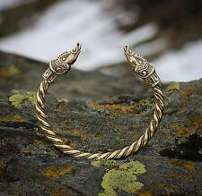 BRACELET Viking Sea Dragon Ouroboros Wristband  BRASS Pagan Jewelry Midgard
