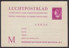 NETHERLANDS, 1947. Military Letter Sheet H&G I 1, Mint