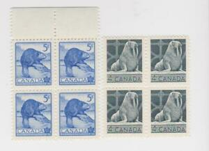 Canada 335-336 Wildlife, Walrus and Beaver blocks.  mint, NH