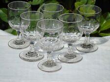 Service de 6 verres de bistrot en verre taillé. XIXe s.