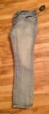 Paisley Sky Size 18 Lightened Blue Jeans Straight Leg Embellished