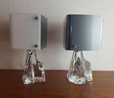 DAUM FRANCE crystal bedside Lamp Set of 2 Vintage 50s 60s kristall Lampen