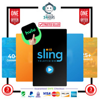 SlingTV Orange And Blue + Extra add-on + HULU 3 years Warranty Fast  Delivery
