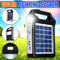Portable Solar Panel Solar Generator System USB Port With Lamp Lighting  Q H