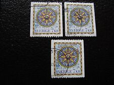 SUEDE - timbre yvert et tellier n° 1989 x3 obl (A29) stamp sweden (E)