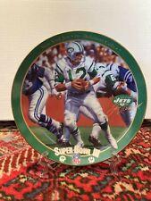 Joe Namath The Guarantee Super Bowl 3 Bradford Exchange Collector Plate Ny Jets