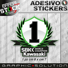 Adesivo / Sticker KAWASAKI RACING SBK WORLD CHAMPION ZX10R ZX6R Z 750 REA SYKES