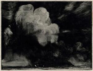 FRANK LEWIS EMANUEL (1865-1948) Signed Aquatint Etching SEASCAPE - 20TH CENTURY