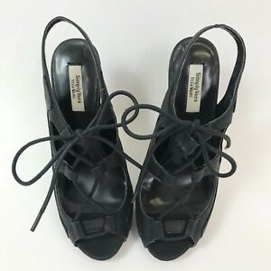 NWOT Simply Vera Vera Wang Women's Lace Up Heels Size 6.5 M Black