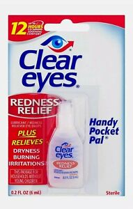 Clear Eyes Redness Relief Eye Drops Handy Pocket Pal 0.20 oz (Pack of 3)