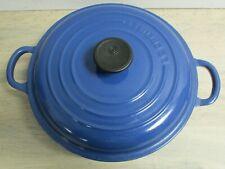 Le Creuset Cast Iron Shallow Casserole Dish 22 Marseille Blue