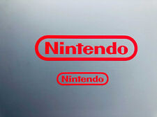 2x Nintendo NES Sticker aufkleber Decal Logo Super SNES Rot