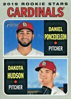 2019 Heritage #96 Dakota Hudson Daniel Poncedeleon Rookie STARS! Cardinals NM-M